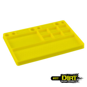 Dirt Racing Products - parts tray, rubber material - yellow