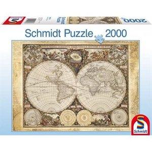 Schmidt Spiele . SSG Historical World Map 2000PC PUZZLE