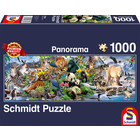 Schmidt Spiele . SSG Colorful Animal Kingdom, Panorama 1000Pc Puzzle
