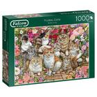 Falcon Deluxe Puzzles . FLD Floral Cats - 1000pc Puzzle