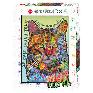 Heye Puzzles. HEY JOLLY PETS, IF CATS COULD TALK - 1000pc Puzzle