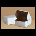 Retail Supplies . RES 7 x 7 x 3.5 White Bakery Box