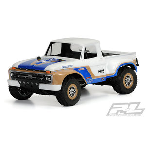 Pro Line Racing . PRO 1966 Ford F-100 Clear Body for SC