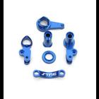 ST Racing Concepts . SPT Aluminum Steering Bellcrank Set, Blue, for Traxxas Slash 4x4