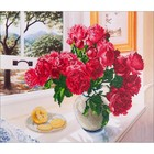 "Diamond Dot . DDT Roses By The Window Diamond Dotz Diamond Embroidery Facet Art Kit 25.25""X31.5"""