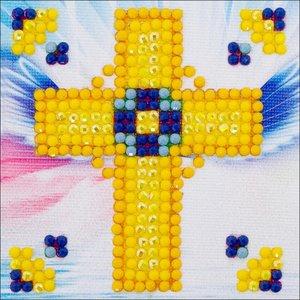 "Diamond Dot . DDT Golden Cross Diamond Dotz Diamond Embroidery Facet Art Kit 4.75""X4.75"""