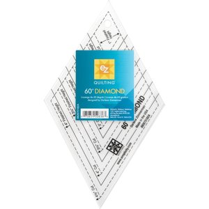 "EZ Quilting . EZQ EZ Quilting 60 Degree Diamond Shape Acrylic Tool 1"" To 4-1/2"""