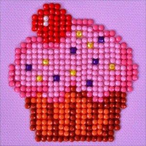 "Diamond Dot . DDT Cup Cake Yum - Diamond Dotz Diamond Embroidery Facet Art Kit 4.75""X4.75"""
