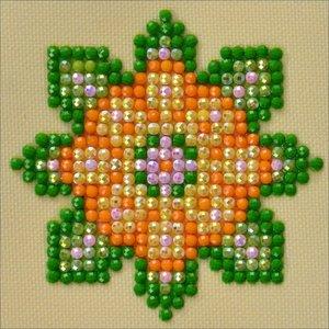 "Diamond Dot . DDT Flower Mandala 1-Diamond Dotz Diamond Embroidery Facet Art Kit 4.75""X4.75"""