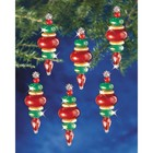 "Beadery . BDR Holiday Beaded Ornament Kit Victorian Baubles 2.25""X.75"" Makes 12"