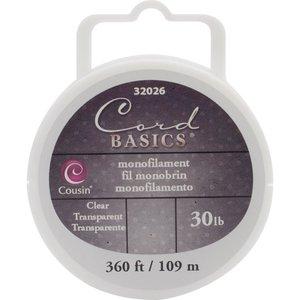 Cousins Corporation . CCA Cord Basics Monofilament Cord 30lb 300' Clear