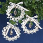 SOLID OAK . SDO Bell Wreath Ornaments