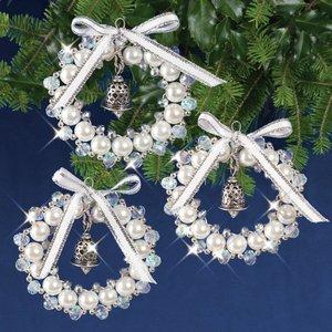 SOLID OAK . SDO Bell Wreath Ornaments