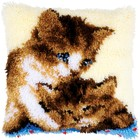 """Vervaco . VVC Cushion Latch Hook Kit 16""""X16"""" Two Cats"""