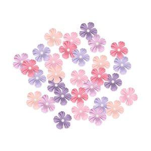 MultiCraft . MCI Handmade Paper Flowers 30/Pkg Pretty W/Pearl Calyx