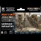 Vallejo Paints . VLJ WWII German Infantry Paint Set