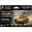 Vallejo Paints . VLJ WWII Italian Armour & Infantry Paint set