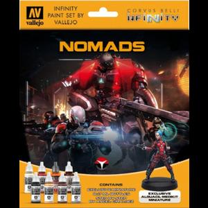 Vallejo Paints . VLJ Infinity Nomads Miniature Paint Set