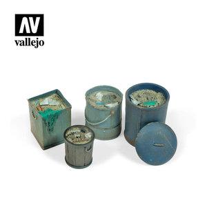 Vallejo Paints . VLJ Assorted Garbage Bins (#2)