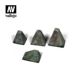 """Vallejo Paints . VLJ Höckerhindernis """"Type 38"""" (Anti-Tank Barriers)"""