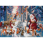 Crystal Art Kit . CAK Christmas in the Forest - Crystal Art Kit (XL size A)