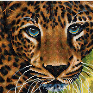 Crystal Art Kit . CAK Leopard - Crystal Art Kit (Medium)