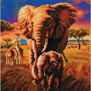 Craft Buddy . CBD Elephant of the Savannah - Crystal Art Kit (Medium)
