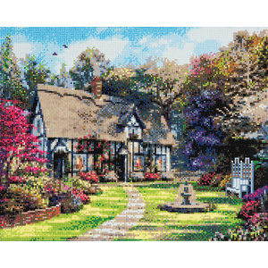 Crystal Art Kit . CAK Country Cottage - Crystal Art Kit (Large)