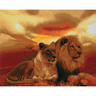 Craft Buddy . CBD Lions of the Savannah - Crystal Art Kit (Large)