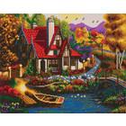Craft Buddy . CBD Riverside Cottage - Crystal Art Kit (Large)