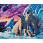 Crystal Art Kit . CAK Polar Bear Family - Crystal Art Kit (Large)