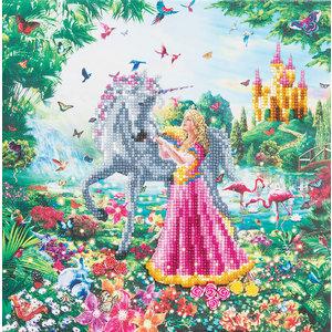 Craft Buddy . CBD The Princess and The Unicorn - Crystal Art Kit (Medium)