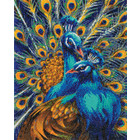 Craft Buddy . CBD Blue Rapsody Peacocks - Crystal Art Kit (Large)