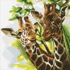 Crystal Art Kit . CAK Friendly Giraffes - Crystal Art Kit (Medium)