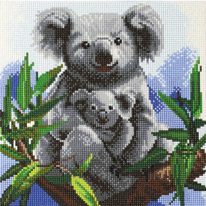 Craft Buddy . CBD Cuddly Koalas - Crystal Art Kit (Medium)