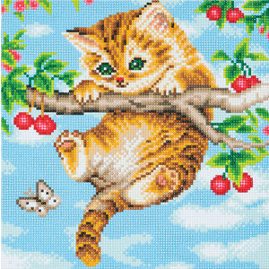 Crystal Art Kit . CAK Cherry Kitten - Crystal Art Kit (Medium)