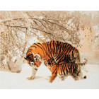 Crystal Art Kit . CAK Winter Tigers - Crystal Art Kit (Large)
