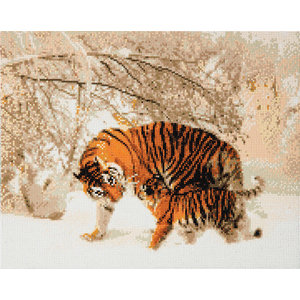 Craft Buddy . CBD Winter Tigers - Crystal Art Kit (Large)