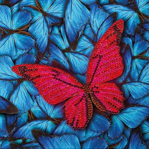 Crystal Art Kit . CAK Butterfly - Crystal Art Card