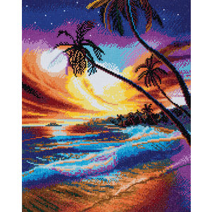 Crystal Art Kit . CAK Tropical Beach - Crystal Art Kit (Large)