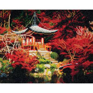 Crystal Art Kit . CAK Japanese Temple - Crystal Art Kit (Large)