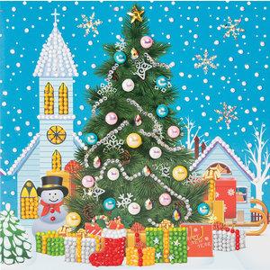 Crystal Art Kit . CAK Christmas Tree (2019) - Crystal Art Card