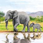 Crystal Art Kit . CAK Elephant - Crystal Art Card