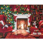Craft Buddy . CBD Pets by the Fireplace - Crystal Art Kit (Large LED)