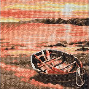 Crystal Art Kit . CAK River Boat - Crystal Art Kit (Medium)