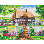 Crystal Art Kit . CAK Rose Cottage - Crystal Art Kit (Large)