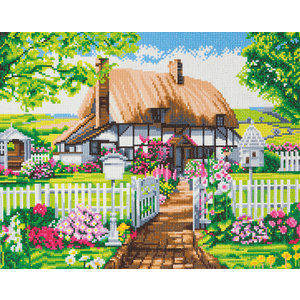 Craft Buddy . CBD Rose Cottage - Crystal Art Kit (Large)