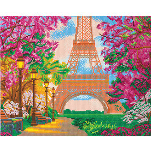 Crystal Art Kit . CAK Eiffel Tower - Crystal Art Kit (Large)