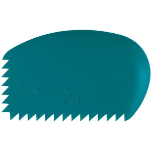 Princeton . PCT Catalyst Silicone Wedge Tool Blue W-02