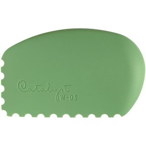 Princeton . PCT Catalyst Silicone Wedge Tool Green W-03